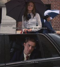 Chuck flirting with Blair. Haha.. The early stages of their relationship. Gossip Girl!