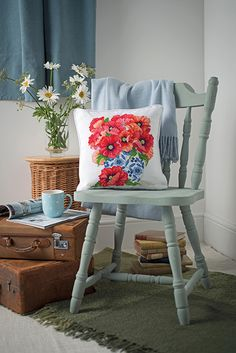 This stunning poppy design featured in Cross stitch Collection issue 254.  Back issues are available from http://www.crossstitchcollection.com/back-issues/