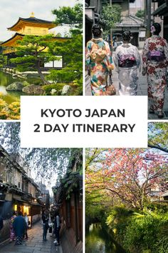 Kyoto Itinerary: Kyoto Japan is an intriguing city, steeped in culture and tradition. Follow this Kyoto 2 days itinerary to make the most of just 2 days in Kyoto Japan. Visit beautiful Kyoto temples, marvel at historic castles, visit food markets and explore the vibrant nightlife in Gion and Pontocho! #kyotoitinerary #kyotojapantravel