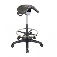 Office Star Work Smart Backless Stool with Saddle Seat, Dual Wheel Carpet Casters, Nylon Base and Seat Angle Adjustment Modern High Chair, Workbench Stool, Office Stool, Black Stool, Led Furniture, Office Furniture, Furniture Makeover, Drafting Chair