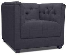 Grand Dark Grey Premium Easy Chair modern chairs.  shape ok not color