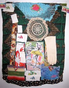 A fork in the road, girl!  Repurposed APRON  Wearable ART Lot Fabrics & Textiles 1 by mybonny, $49.00