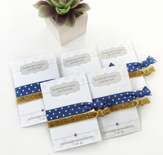 Navy and Gold Bachelorette Party Favors, Bachelorette Party Decorations, Hen Party Favors, Bridal Shower Favors, Bachelorette Hair Ties