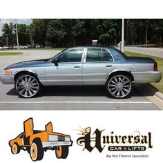 Lincoln Town Car Sittn On 30 S 10 Inch Suspension Lift Ridin Big