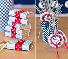 DIY Sparklers and Matches Party Favors!