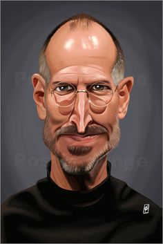 Poster Steve Jobs art | decor | wall art | inspiration | caricature | home decor | ideas | gift