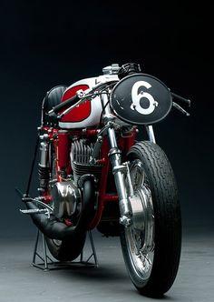 cafe racer. vintage racing motorbike.
