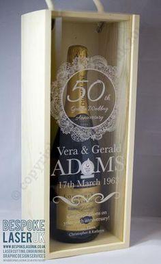 CVIM006 - Caja para Vino Personalizada Tipo3 para Espumantes Tapa Acrílico Transparente