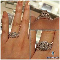 14K White Gold 2 Ct Princess Cut Diamond Engagement Ring Wedding Band Bridal Set #giftjewelry22