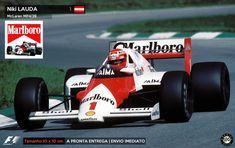 Adesivo Niki Lauda Mclaren Formula 1 no Mercado Livre Brasil Bruce Mclaren, Mclaren Mp4, Racing Team, Road Racing, Formula 1, F 1, Grand Prix, Race Cars, Air Force