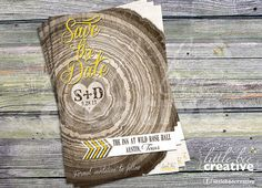 Rustic Tree Ring Save the Date Printable by LittleBeeCreative