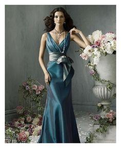 Vestidos catorceveinte.com: Vestido de dama de honor, escote cuello en V 00201164