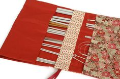 Knitting Needle Case - by Vicky Myers creations on Etsy Knitting Needle Case, Knitting Needles, Handmade Christmas Gifts, Christmas Gift Guide, Small Business Saturday, Circular Needles, Crochet Hooks, Gifts For Her, Handmade Items