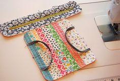 strippy scraps zip bag 2-- pattern from Patchwork Style by Suzuko Koseki