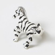 Bling Zebra Ring by claires i am an animal lover so I adore animal jewlery