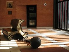 Bill Woodrow's 'Sitting On History' was purchased for the British Library by Carl Djerassi and Diane Middlebrook in 1997.  #inspirationalplaces