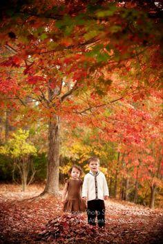 fall family photo kids