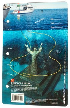 Christ of the Abyss & Dry Rocks, Key Largo, Florida - Art To Media Dive Site Map