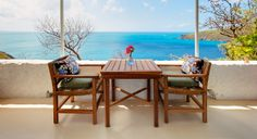 Pull up a chair. . . :)  British Virgin Islands turquoise Caribbean Sea