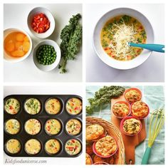 kid Egg muffins with hidden veggies suitable from 8 months +