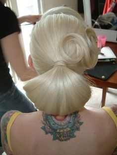 Woman's Long Hair - UpDo Style
