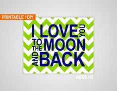 Digital+Nursery+quote+print+I+love+you+to+the+moon+by+MiraDoson,+$6.00