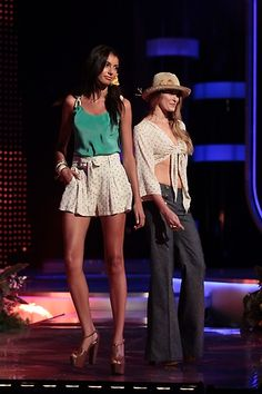 Loose Tank & Pleat Shorts | Tie Top & Denim || Jessica Simpson's 2012 Spring Collection #FashionStar