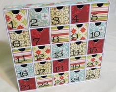 Art Nouveau U-fill Advent Calendar with Drawers