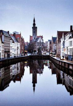 Bruges, Belgium. Rooftops, skyline. Perspective More