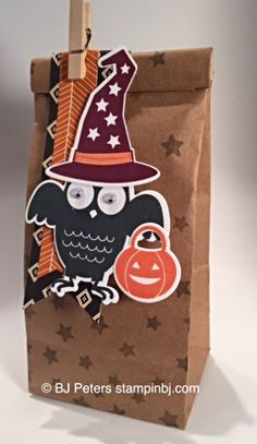 Howl-o-Ween Treat, Stampin' Up!, BJ Peters, Boo to You, Petite Cafe Gift Bag