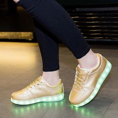 Comment below with email address, and your size and color preference to purchase!    Light up LED shoes! So fun, so unique! Lights charge with USB charger (included with purchase) Lights change colors from purple, to green, to red.    Available in European sizes: 35 - 44    If you are not familiar with European sizing please refer to this chart: http://www1.bloomingdales.com/about/shopping/sizecharts/shoes.jsp    Half sizes not available. | Shop this product here: spree.to/a7fa | Shop all…