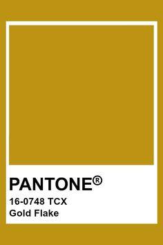 PANTONE 16-0748 TCX Gold Flake #pantone #color Gold Pantone Color, Pantone Color Chart, Yellow Pantone, Pantone Colour Palettes, Pantone Tcx, Pantone Swatches, Paint Swatches, Color Swatches, Colour Pallette