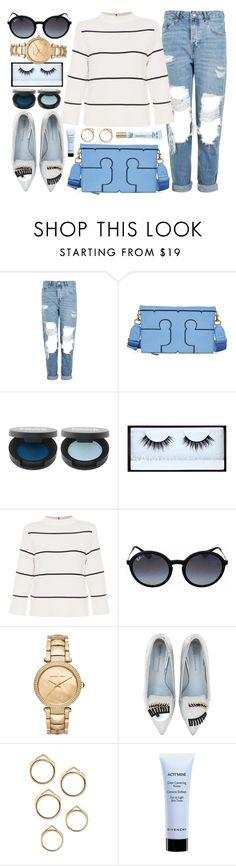 """""""Sunday Mood"""" by jomashop ❤ liked on Polyvore featuring Topshop, Tory Burch, FACE Stockholm, Huda Beauty, L.K.Bennett, Ray-Ban, Michael Kors, Chiara Ferragni, Givenchy and Too Faced Cosmetics"""