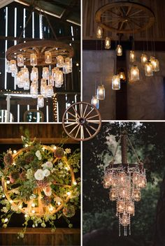 rustic and vintage old wagon wheel chandelier ideas