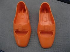 IDEAL Crissy Doll Family - Orange Shoes (clothing & accessories) #IDEAL