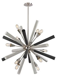 "Solara 10 Light Chandelier In Polished Nickel in Other Chandeliers, style - Contemporary, by ELK Lighting, finish - Nickel, family - Solara""> Sputnik Chandelier, Chandelier Lighting, Chandeliers, Elk Lighting, Home Lighting, Starburst Light, Grey Wash, Wood Turning, Polished Nickel"