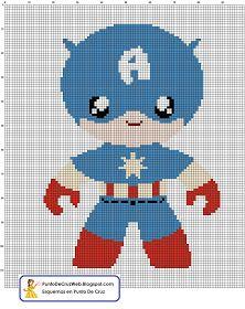 Punto De Cruz: Super Heroe Capitán America