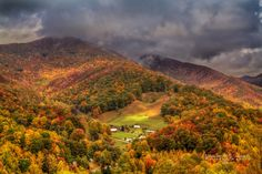 Maggie Valley North Carolina  I went here as a teenager and did not appreciate it until last October.  My daughter and I went there on the last day of the season, 31 October.  We ate in the restaurant on the left side and enjoyed wonderful FRESH rainbow trout!  The mountains were beautiful even though the trees had started becoming bare.  My daughter saw the smoke for the first time in the mountains.  It is a great place to visit, even for the day,