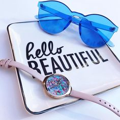 Hello Beautiful! Love the playful watches & sunglasses from @rumbatime! Little details on the watch like the #love inscription & heart on the turn dial! #fblogger #rumbatime #prsample