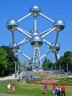 Get blinded by science in Brussels - Visit one of the weirdest attractions in all of Europe—the Atomium in Brussels. It's an enormous model of an iron crystal built in 1958 that's both ebullient and terrifying in the way only the Atomic Age could be. —Paul Brady. © Justin Kase zfivez / Alamy.   ... http://scotfin.com/ says, The modern, as in 1958 modern, Eiffel Tower, I suppose.