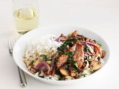 Beef and Mushroom Stir-Fry from #FNMag #myplate #protein #veggies