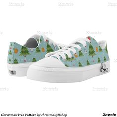 Christmas Tree Pattern Printed Shoes