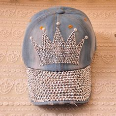 Chic Faux Pearl Decorated Diamante Crown Pattern Hat – teeteecee - fashion in style