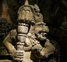 Monkey Forest in Ubud, Bali, Indonesia Monkey Forest, Ubud, Buddha, Places To Go, Lion Sculpture, Statue, Photography, Art, Art Background