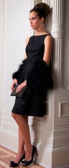 Classic Little Black Dress #fashion #hair #style