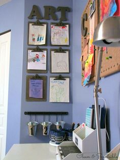 Great ideas for a kids' homework station. // cleanandscentsible.com