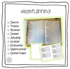 Complete en overzichtelijke weekplanning op één A3