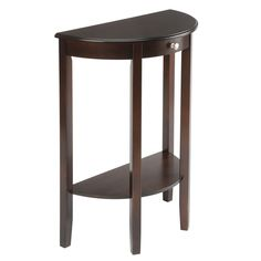 This half-round hall table is small and unobtrusive enough for an entryway or foyer, and it's practical, too. Use it to display a favorite plant or collectible, and stock the bottom shelf with reading materials to help relieve occasional boredom.
