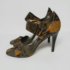 05b099ca1374 Steve Madden luxe Billy snake print sandals heels. Pre loved