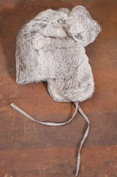 Russian-Style Rabbit Fur Hat, GREY, Size SMALL Overland Sheepskin Co. $76.00
